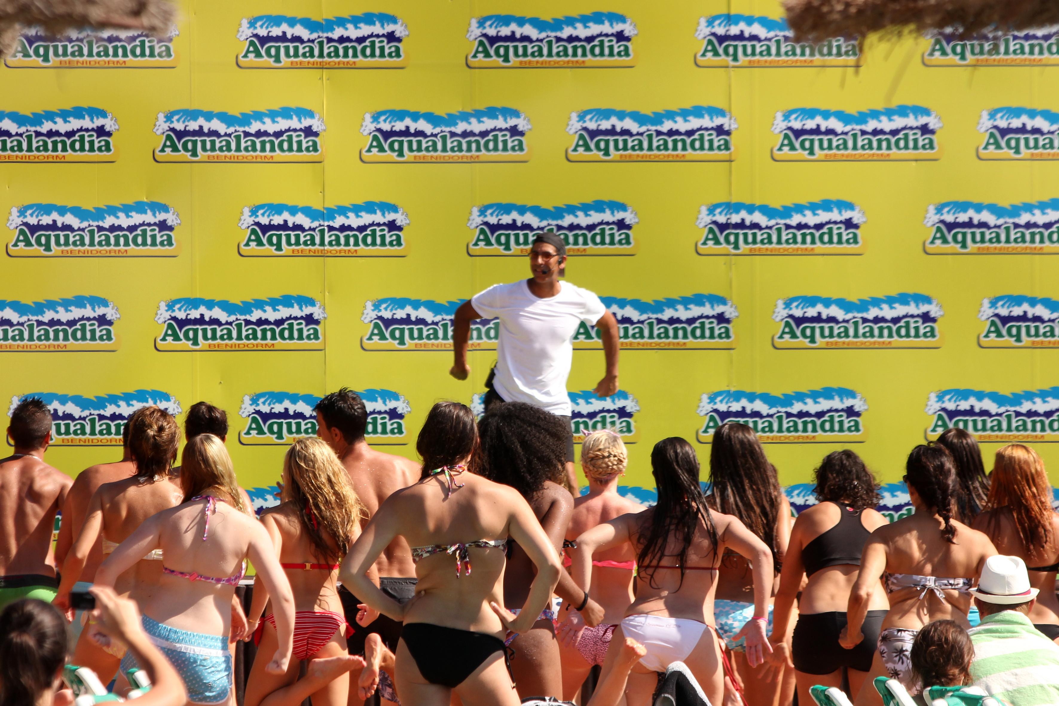 Do Aerobics at Aqualandia!